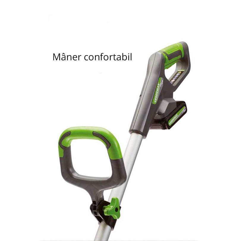 Trimer telescopic profesional cu acumulator TR20, Li-ion maner confortabil